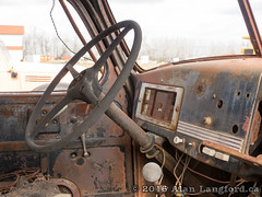 Truck Cab (Alan Langford) Tags: truck rust industrial machine oilfield