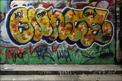 40Ouncer (Alex Ellison) Tags: urban graffiti boobs waterloo halloffame graff hof thetunnel southeastlondon cbm 40ouncer leakestreet