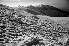 Rough land (threepinner) Tags: winter snow japan canon hokkaido kodak tokina 24mm hq f28 rmc microfilm hokkaidou t70 selfdeveloped northernjapan   mttokachidake imagelink mtfurano  mountainsnaps taisetsunationalpark