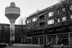 Staats Water Toren (Noonski) Tags: park blackandwhite bw white black tower water monochrome blackwhite toren zwart wit wester buurt staats lieder