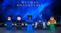 [Lego DC] BATMAN: KNIGHTFALL (Jonathan Wong Photography) Tags: robin lady comics toy paul photography tim dc high lego jean graphic quality mullet dick descent grayson madness valley batman novel superheroes drake custom shiva 1990s azrael nightwing reclaim the assasins hallucinations minifigures cowl purist knightfall figbarf