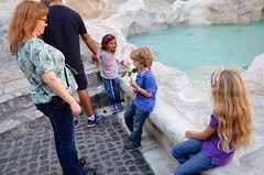 Sue & The Kids At The Trevi Fountain (Joe Shlabotnik) Tags: italy rome roma fountain italia violet trevifountain sue everett 2016 proudparents afsdxvrzoomnikkor18105mmf3556ged march2016