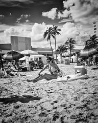 Bathing Beauty (35mmStreets.com) Tags: street city portrait urban bw 35mm photography blackwhite nikon df little florida miami sony havana kittens d750 nik southbeach dsc sobe lightroom washingtonstreet d600 collinsave d4s silverefex 35mmstreets rx1rm2