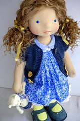 "DENISE  20"" doll (Dearlittledoll) Tags: handmade waldorf n handmadedoll waldorfdoll steinerdoll organicdoll naturaldoll"