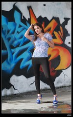 nEO_IMG_DP1U1589 (c0466art) Tags: light portrait water girl beautiful wall canon pose painting island nice colorful long pretty pants action body gorgeous country ruin line figure marta lovely charming tight elegant curve sao reflectiom tome antunes 1dx c0466art
