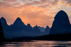 Li River Suset Xingping, China (Colleen Easley) Tags: china liriver xingping