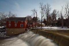 Honeoye Falls (awaketoadream) Tags: new york winter red usa creek waterfall long exposure state falls honeoye