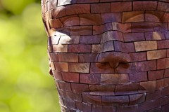 Brickhead (Alan Amati) Tags: street sculpture brick art face statue james midwest thought head indianapolis massachusetts deep indiana tyler ave publicart mass contemplative contemplation in brickface amati alanamati brickface3