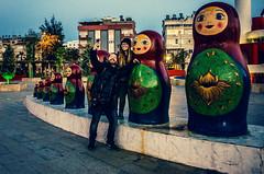 Just the ten of us (Melissa Maples) Tags: park sculpture art statue turkey evening nikon asia photographer dusk trkiye joy josh antalya nikkor vr afs matrushka  selfie 18200mm  f3556g matroshka  18200mmf3556g d5100 russianpark