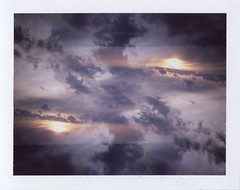 Transpose (benjaflynn) Tags: sunset sky sun storm film weather clouds analog vintage polaroid outside outdoors iso100 colorful pattern fuji view cloudy antique doubleexposure horizon overlay retro multipleexposure mirrored fujifilm thunderstorm trippy psychedelic bellows manualfocus instantcamera pola cloudporn discontinued rotated severe clouded overlap landcamera roid eyecatching packfilm opensky foldingcamera instantfilm instantprint scannedfilm primelens fujiroid sunsetporn fp100c skyporn polalove fixedfocallength peelapartfilm epsonperfectionv500 polaroidlandcameraautomatic230 auto230 benseidelman polaroid114mmf88lens