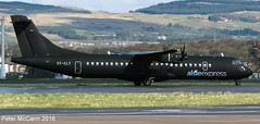 OY-CLY ATR72 Glasgow March 2016 (pmccann54) Tags: atr72 danishfootballteam alsieexpress oycly