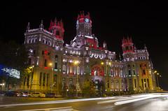Palacio De Correos- Madrid (...Luna...) Tags: madrid night noche cibeles ayuntamiento correos palacio