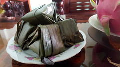 Packaged meat (Roving I) Tags: homes leaves wrapped meat vietnam snacks hospitality danang jackfruit vietnamesecuisine