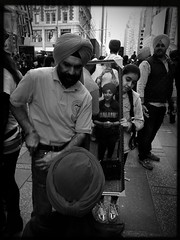"""Times Square """"Turban Day"""" (ROY.NYC) Tags: blackandwhite bw blackwhite streetphotography bnw lowy photooftheday nycstreetphotography mobilephotography iphoneography iphoneonly hipstamatic blackeyssupergrain turbanday theappwhisperer hipstaoftheday mobiography roysavoy shotoniphone6s"""