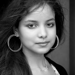 Kansas City Girl Candid (Jim-Mooney) Tags: street portrait people blackandwhite bw black monochrome photography mono blackwhite fuji candid monotone kansascity fujinon xt1 50140mm
