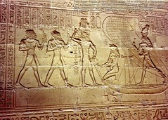 Relief from the Temple of Horus at Edfu. (StevanB) Tags: hieroglyphs hieroglyphics