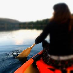 late Evening  canoe adventure (Nick Kenrick.) Tags: vacation lake canada boat ripple paddle row canoe vancouverisland