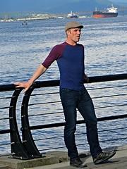 (ManontheStreet2day) Tags: boy crotch twink jeans cap bluejeans