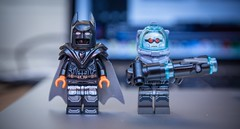 [Lego DC] Arkham Origins Extreme Environmental Batman and Mr. Freeze (Jonathan Wong Photography) Tags: comics dc lego mr extreme suit freeze batman environment superheroes custom origins xe arkham minifigures purist