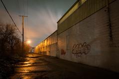 Potato Chip Alley (Jon DeBoer) Tags: night alley detroit potato chip
