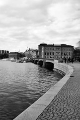 Stockholm II (Ierofania) Tags: city bridge white black water architecture stockholm federico cioli