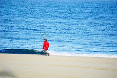 You are doing it wrong... (Fnikos) Tags: sea beach fishing sand waterfront outdoor shore serene fishingroad