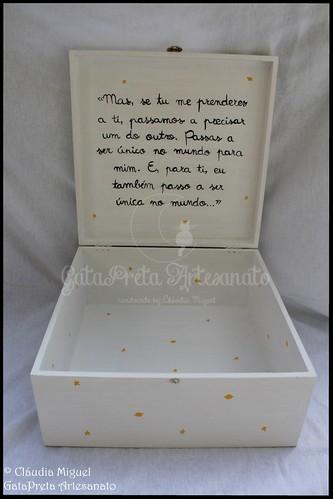 """Caixa para mensagens de casamento """"Petit Prince"""""""