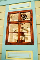 Sighisoara Window 11 (PM Kelly) Tags: street travel windows light abstract color colour reflection art window ventana one 1 romania frame sighisoara