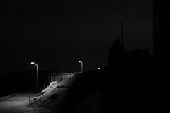 se perdre dans la nuit (glookoom) Tags: light blackandwhite bw black france monochrome montagne landscape lumire contraste neige extrieur nuit blanc lampadaire chamrousse rhnealpes