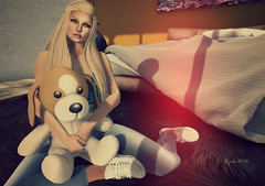 lil'Friend (BijankRau | [ photograp'r model.]) Tags: dutch river hair photography stuffed model truth blondes event poses puppie brau gacha lilbug hireble