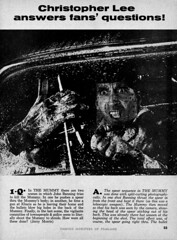 Christopher Lee answers questions 02 (Tom Simpson) Tags: film vintage movie horror qa christopherlee famousmonsters