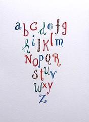 001-001 - kopie (anke nina) Tags: alphabet calligraphy ecoline
