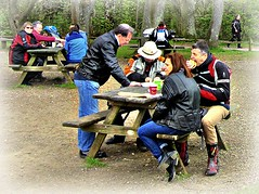 Eating  Out .. * (John(cardwellpix)) Tags: uk corner picnic sunday surrey tables april guildford 24th newlands albury 2016 merrow