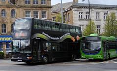 Keighley (Hesterjenna Photography) Tags: bus volvo coach president transport busstation doubledecker psv decker keighley plaxton transdev b7tl y707hrn