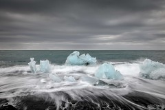 Black sand ice (Camera_Shy.) Tags: black ice iceland sand vik jkulsrln