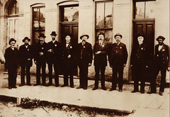 Early Portage Police Force, Anson Clark on Right