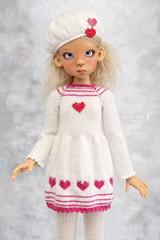 Commission work ♥ (Maram Banu) Tags: pink doll dress heart handmade bjd layla sunkissed msd kayewiggs kazekids fairystyle marambanu