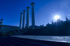 Barcelona. Montjuic (ancama_99(toni)) Tags: barcelona blue sun sol arquitectura nikon motjuic d7000