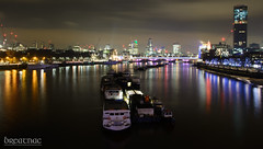 Docked amongst the Themes night lights (Breatnac Photography) Tags: london night clouds river boats photography lights slow photograph shutter themes breatnac