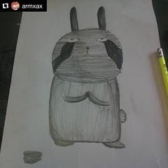 เป็นนางแบบให้คุณครูสอนการแรเงาค่ะ  น่ารัก #อยากทำอะไรรูปต่ายทำได้เลยนะคะถ้าไม่ได้เป็นการพาณิชย์ #ทำเค้กกินเอง #เพ้นท์เสื้อใส่เอง #อะไรอย่างงี้  บอกต่ายหน่อยแค่นั้นเอง #fanmade #cute #jaytherabit #Repost @armxax ・・・ สกิลการแรเงา ขั้นอนุบาลเลยจ้า ขอโทษนะเจ้