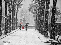 ASPETTANDO CHE FIOCCA:-)) (Roberto.mac.) Tags: bw color italia neve bianca lombardia biancoenero citta melegnano fiocchi soffice coloreselettivo robertomac aspettandochefioca