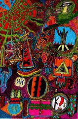 revenge of the kibbo kift (SocitRoyale) Tags: signs art eyes drawing ufo aliens lsd psychedelic kift kibbo kibboskift