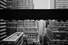 365 project - 1/365 - Feb 3, 2016 (Foto.C87) Tags: new york city nyc bw white black water rain buildings square cityscape squareformat droplet iphoneography instagramapp uploaded:by=instagram