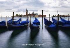 Dancing Gondolas  (long exposure) (Rex Montalban Photography) Tags: longexposure venice italy europe gondolas rexmontalbanphotography