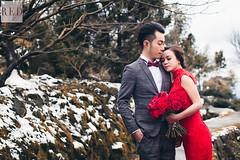 Jan 25th pre wedding (WillyYang) Tags: wedding snow 50mm bokeh taiwan wed prewedding weddingphoto weddingphotography 50mmf12 bokehlicious canon6d