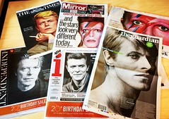 Today's front pages.... (Scorpions and Centaurs) Tags: musician death sadness media artist rockstar newspapers headlines idol singer actor british tribute press frontpage obituary grief rockandroll davidbowie starman theindependent specialedition thetimes ziggystardust majortom thetelegraph thestarslookverydifferenttoday thedailymirror thegaurdian wecouldbeheroes
