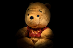 Portrait of Pooh (zzra) Tags: portrait dark pooh winnie 116picturesin2016 18winniethepoohday18thjan