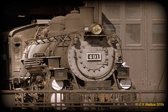 January 30, 2016 - An old railroad engine in Golden. (Ed Dalton)