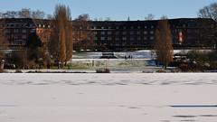 Tor der Hoffnung (nirak68) Tags: schnee winter snow cold ice river deutschland lbeck eis marli denkmalschutz wakenitz flus zugefroren icebound wohnanlage 017366 torderhoffnung c2016karinslinsede