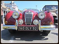 Jaguar XK 140 (v8dub) Tags: auto old classic car schweiz switzerland automobile suisse convertible automotive voiture oldtimer british jaguar oldcar cabrio collector vevey roadster cabriolet 140 xk wagen pkw klassik worldcars